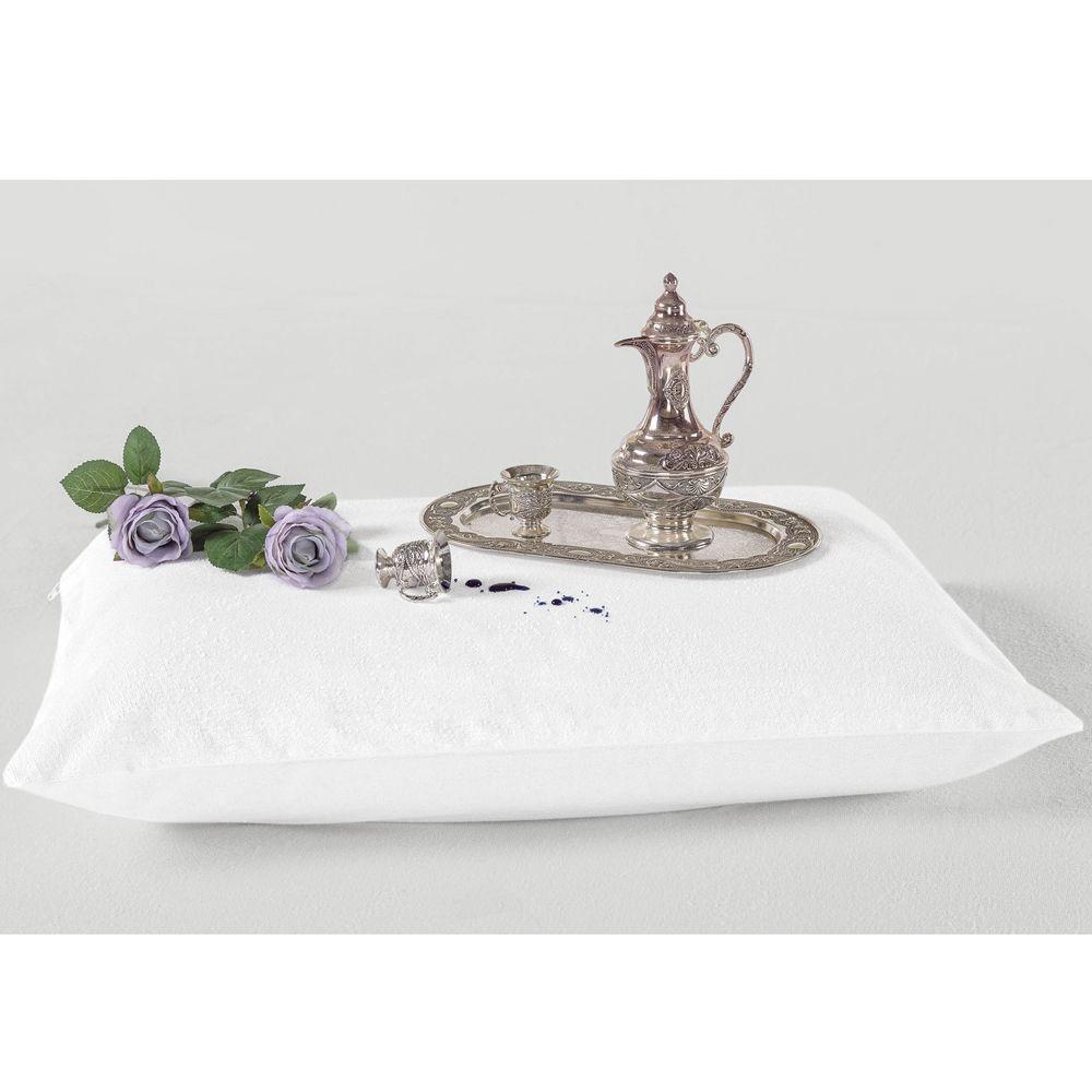 Protetor para Travesseiro Impermeável Atoalhado 1 - Branco