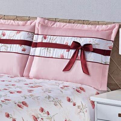 Cobre Leito Holambra Queen Estampado 3 peças - Rosê