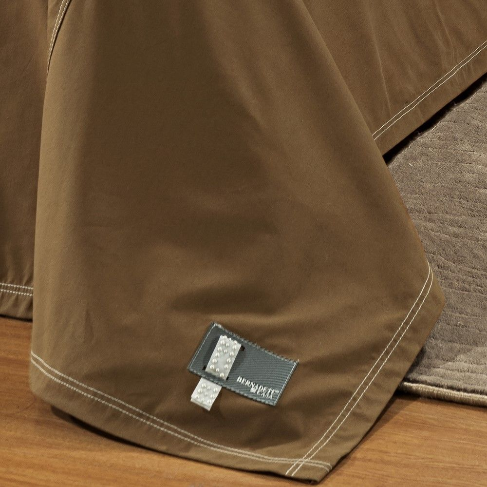 Cobre Leito King Positano Jeans 7 Peças - Chocolate