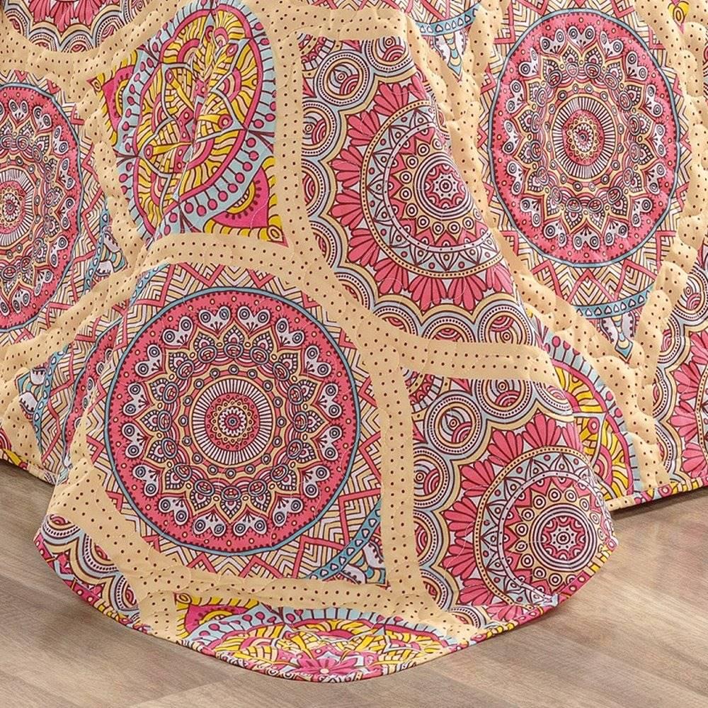 Cobre Leito Queen 200 Fios Dupla Face 3 peças Naturalle - Mandala
