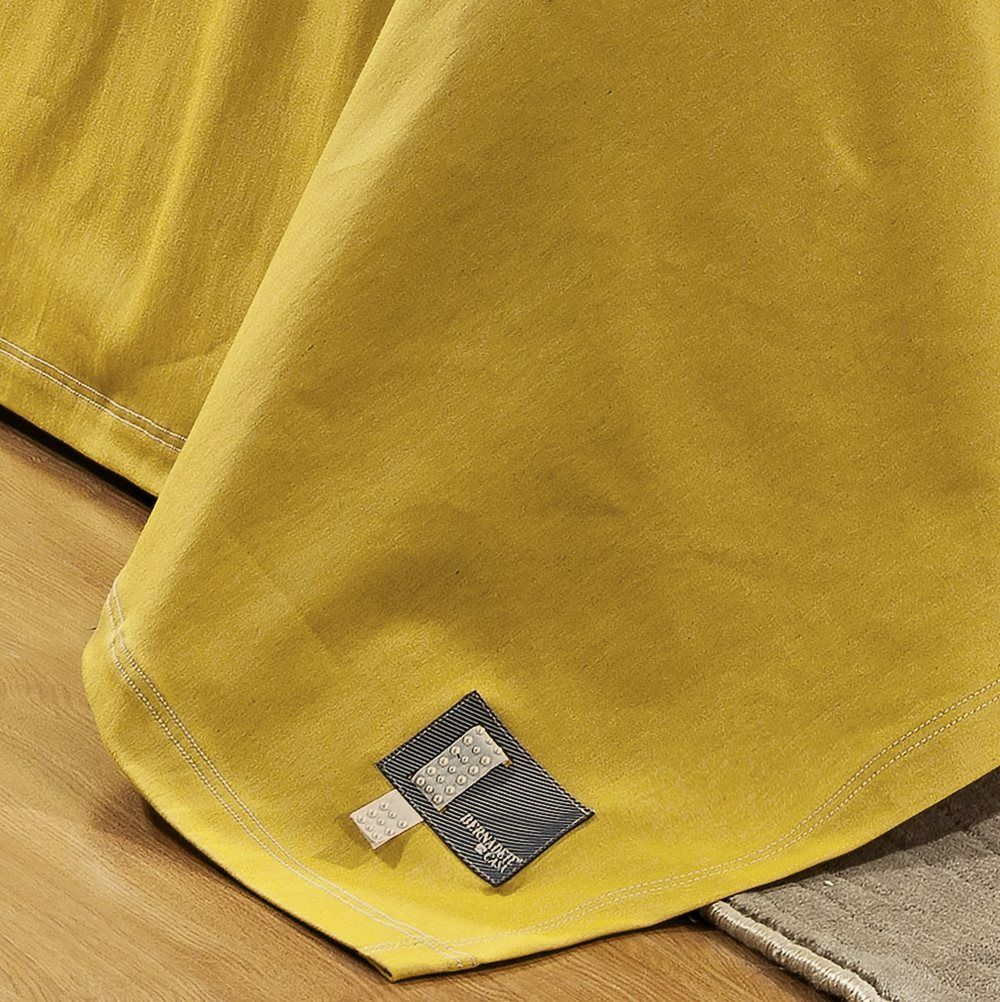 Cobre Leito Queen Positano Jeans 7 Peças - Mostarda
