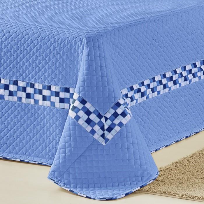 Cobre Leito Solteiro Azul Thierry 5 Peças