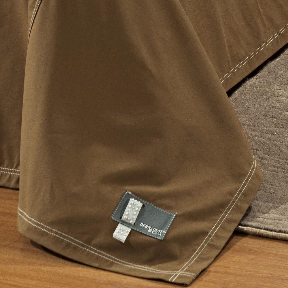 Cobre Leito Super King Positano Jeans 7 Peças - Chocolate