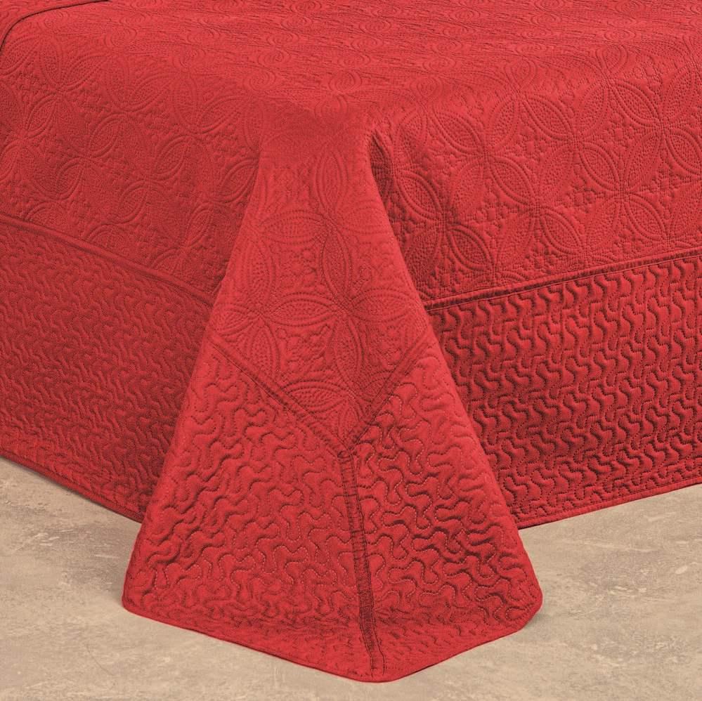 Colcha Bali Casal Dupla Face 3 Peças - Scarlet Vermelho