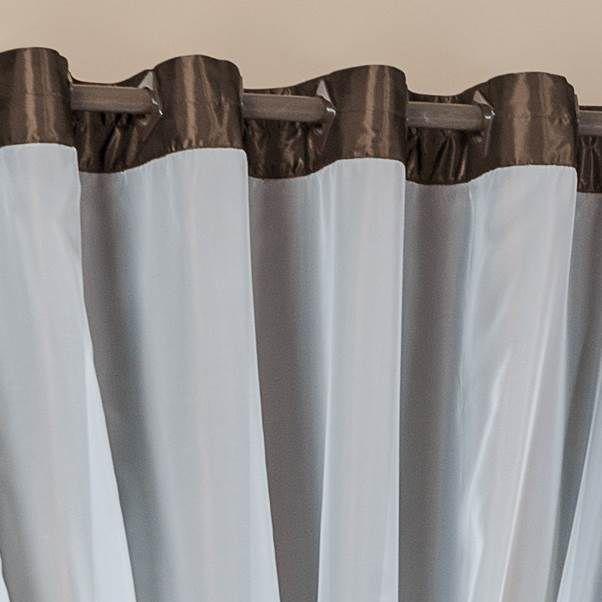 Cortina Antonella Cetim 2,00m x 1,80m - Tabaco