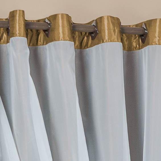 Cortina Antonella Cetim 4,00m x 2,60m - Dourado
