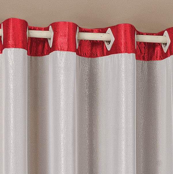 Cortina Deluxe Cetim 3,00m x 2,60m - Vermelho