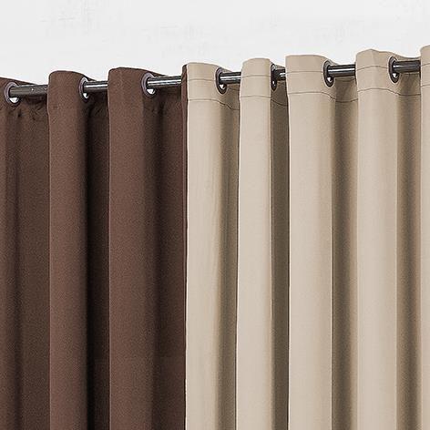 Cortina Yasmin 4,00m x 2,60m Malha Gel - Tabaco/Cáqui