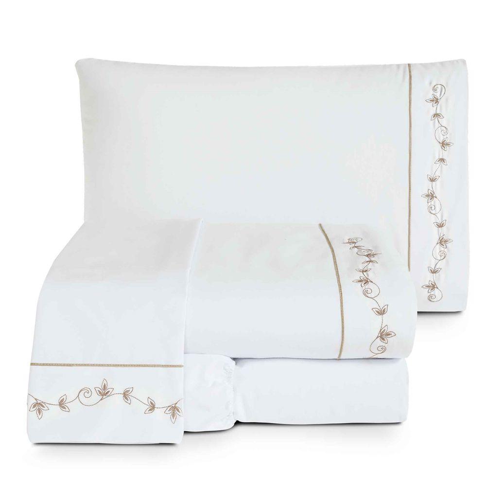 Enxoval Queen Versales Bordado 7 Peças - Branco