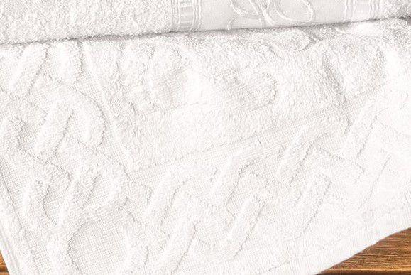Jogo de Banho Bordado Florença Algodão 5 Peças - Branco