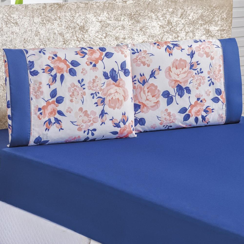 Jogo de Lençol Solteiro 2 peças Naturalle - Beatrice Azul
