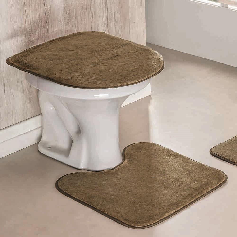 Jogo de Tapetes para Banheiro Antiderrapante 3 Peças Castor