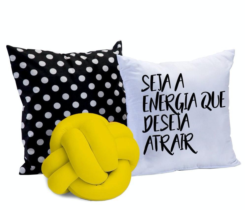 Kit Almofadas Energia 3 peças - Amarelo