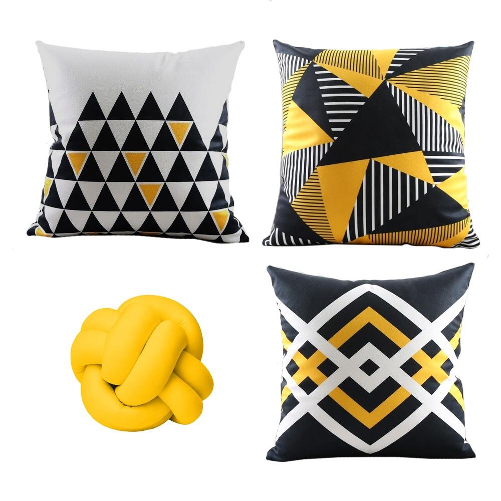 Kit Almofadas Marlink 4 peças - Amarelo