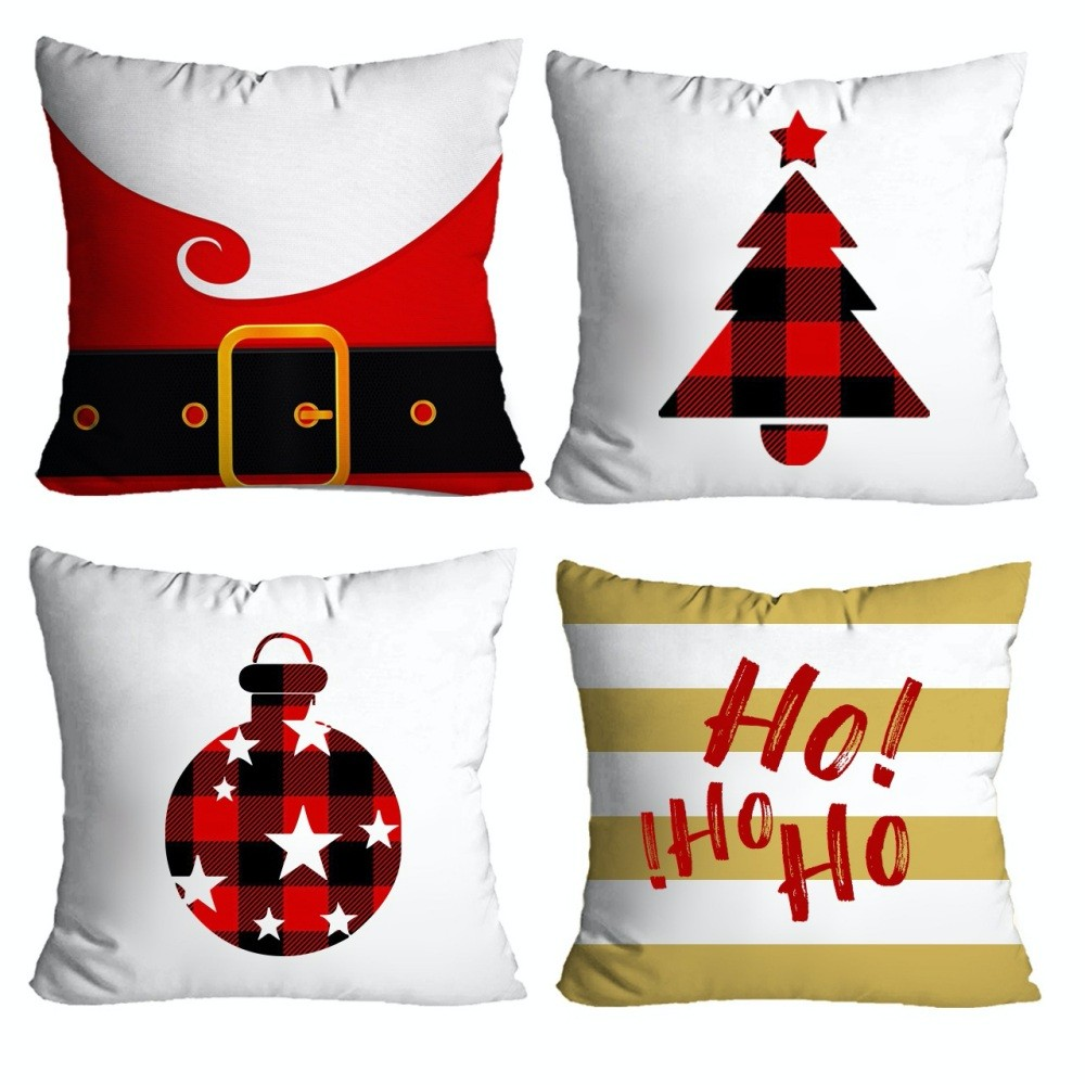 Kit Almofadas Natal 4 peças - Branco