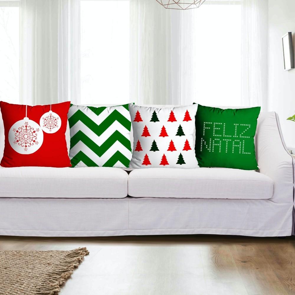 Kit Almofadas Natal 4 peças - Verde