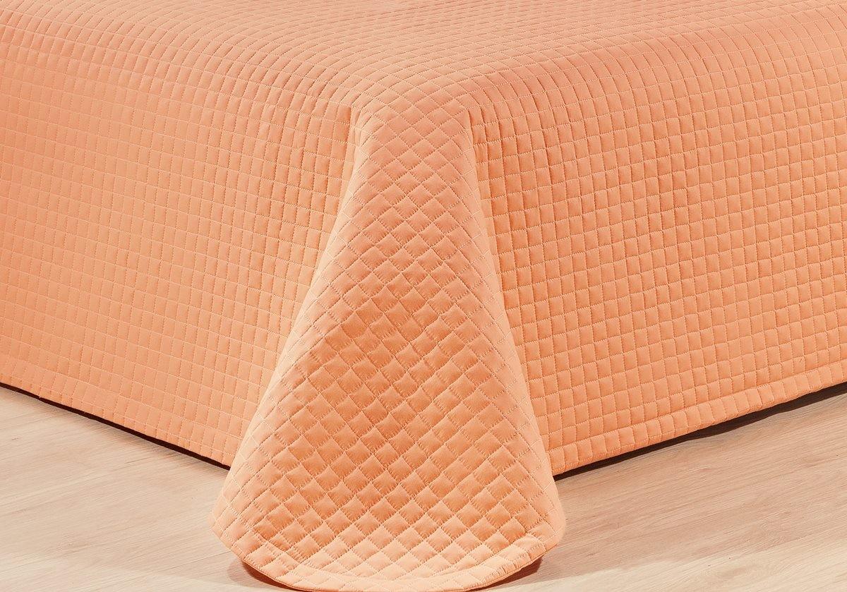 Kit Cobre Leito Casal Queen Size Coral Pratic 100% Algodão 3 Peças