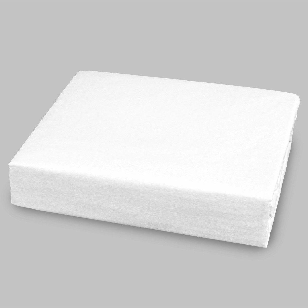 Lençol Avulso Solteiro 180 fios Com Elástico - Branco