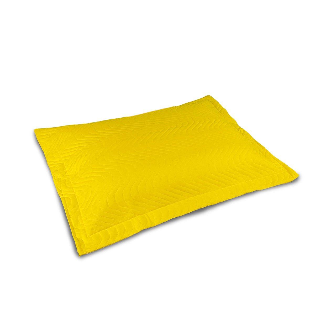 Porta Travesseiro Avulso Matelassado 180 Fios - Amarelo