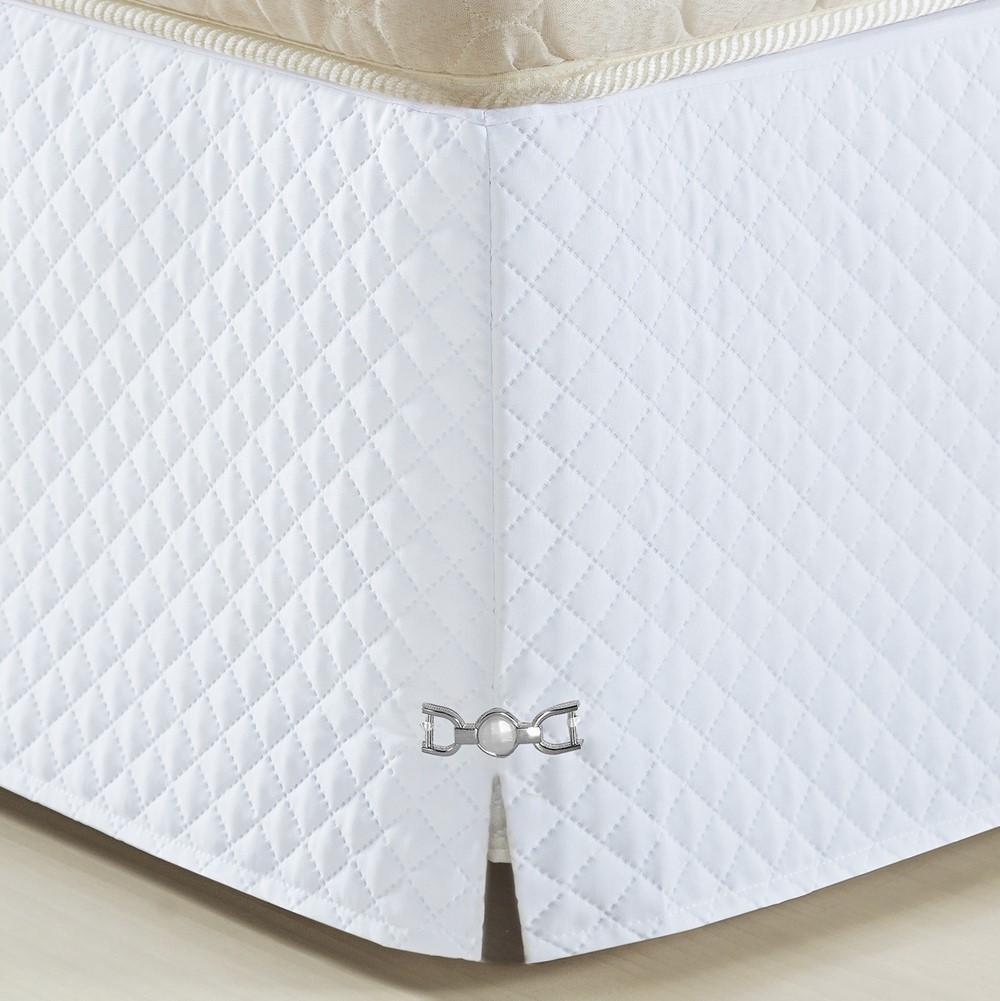 Saia Para Cama Box King Size Veneza Branco