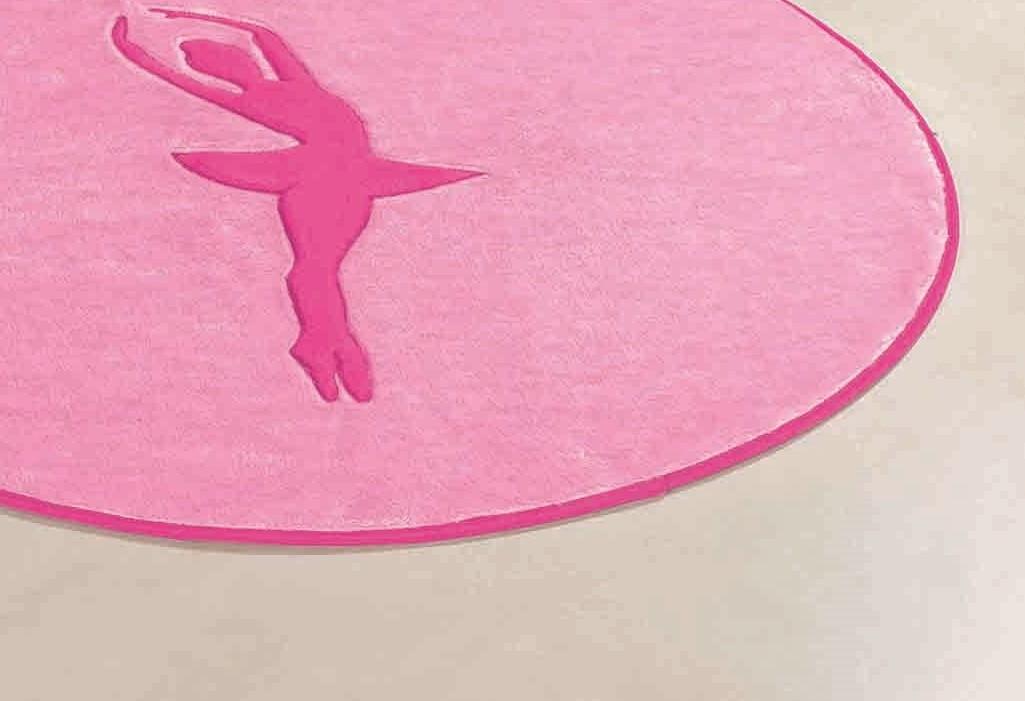 Tapete para Sala e Quarto infantil Bailarina Rosa 78cm x 68cm