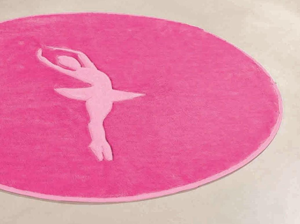 Tapete para Sala e Quarto infantil Bailarina Pink Rosa 78cm x 68cm