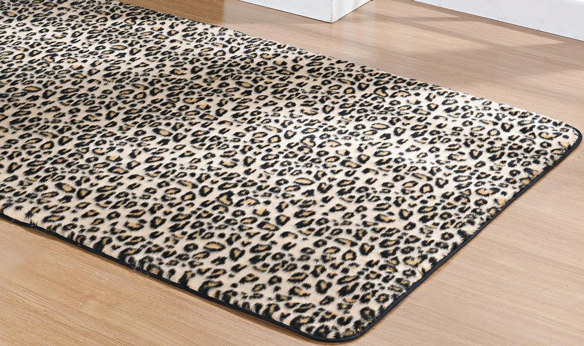 Tapete para Sala e Quarto Safari Leopardo Pelúcia 1,48m x 1,00m