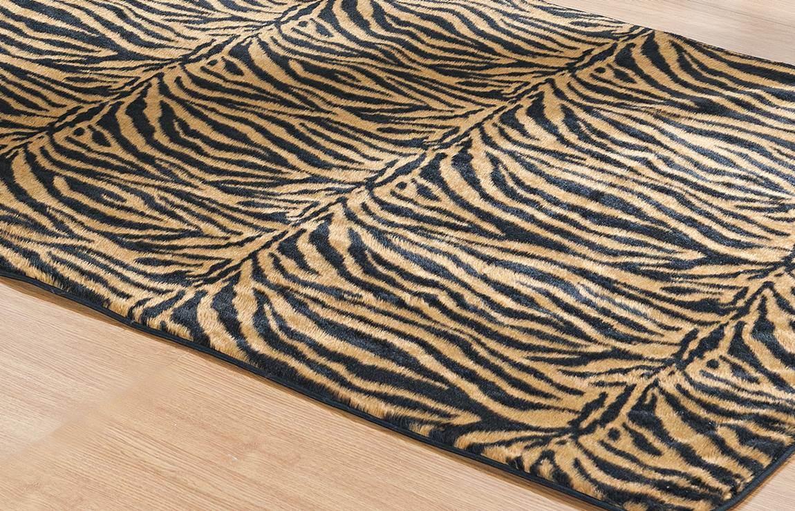 Tapete para Sala e Quarto Safari Tigre Pelúcia 1,48m x 1,00m