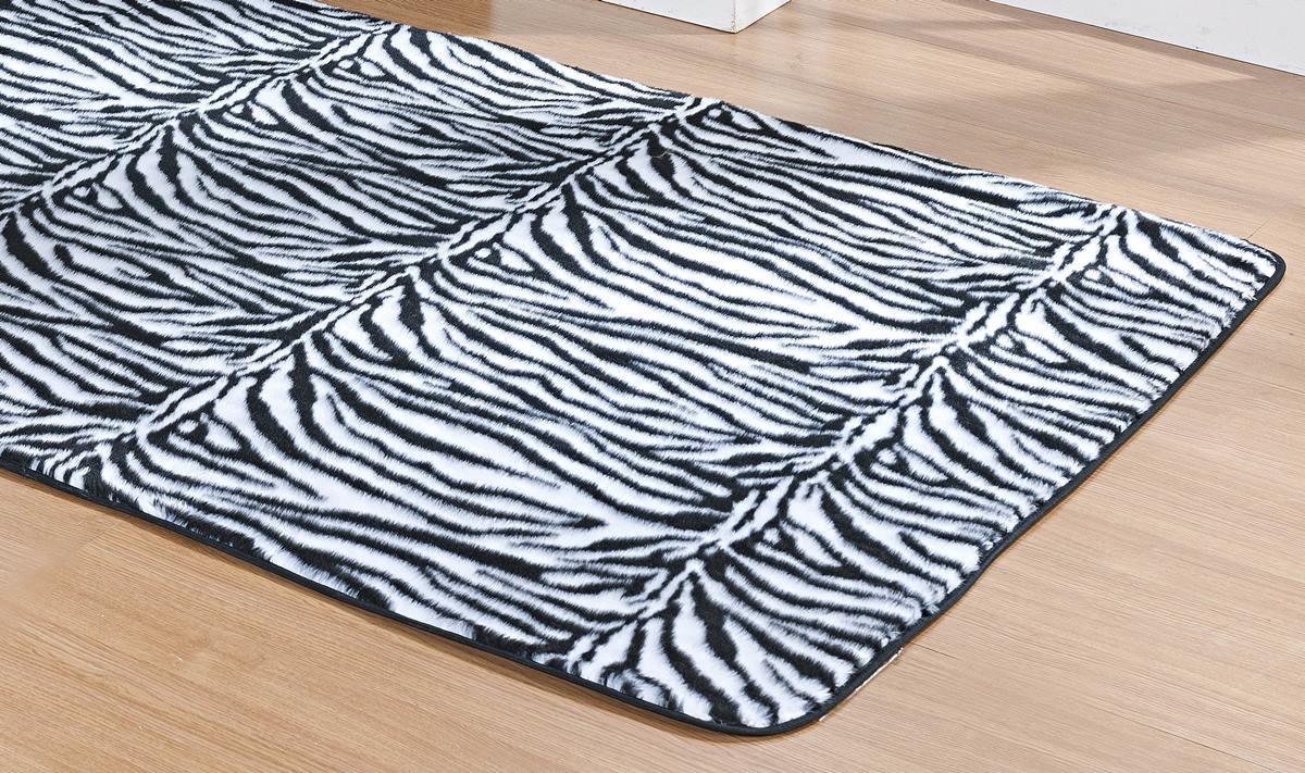 Tapete para Sala e Quarto Safari Zebra Pelúcia 1,48m x 1,00m