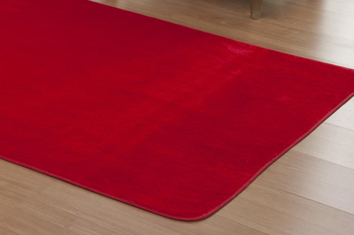 Tapete para Sala e Quarto Vermelho Pelúcia 1,48m x 1,00m