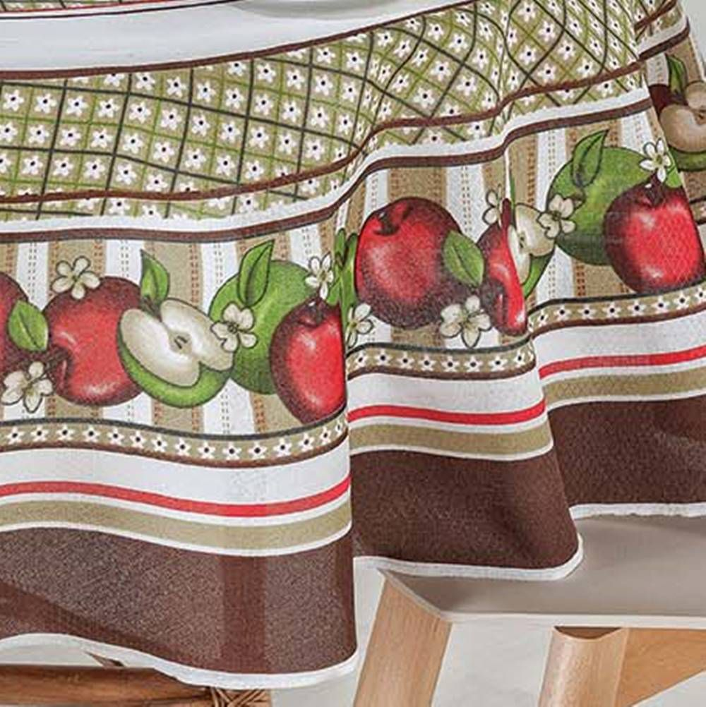 Toalha de Mesa Redonda Estampada 1,70m Ø - 1 peça Frutas