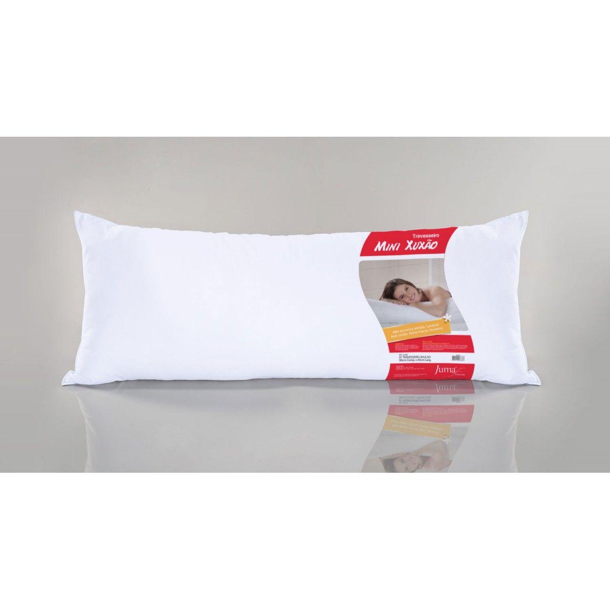 Travesseiro de Corpo 90cm x 45cm  Mini Xuxão 1 Peça - Branco