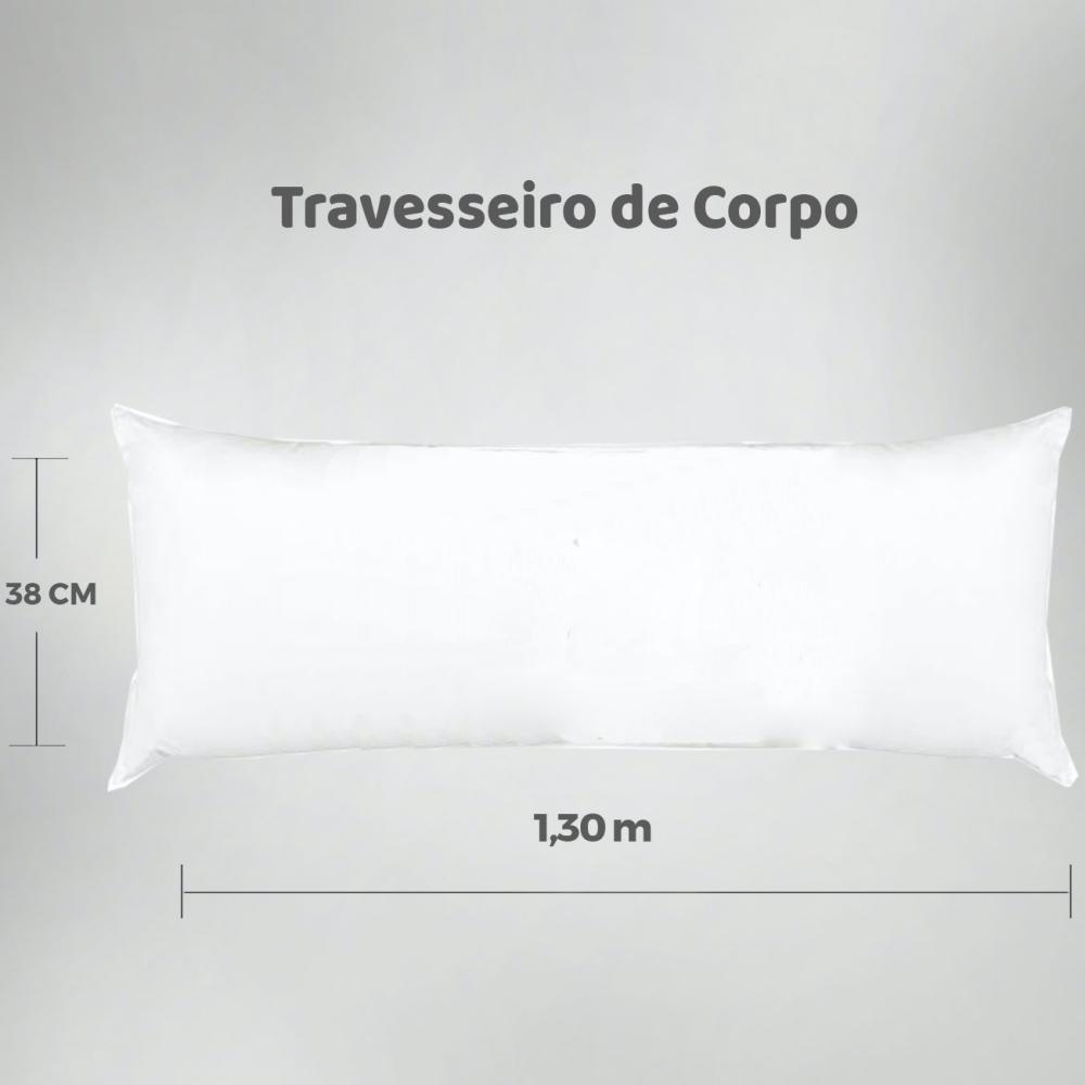 Travesseiro de Corpo Aconchego Estampado 1,30m x 38cm - Bola