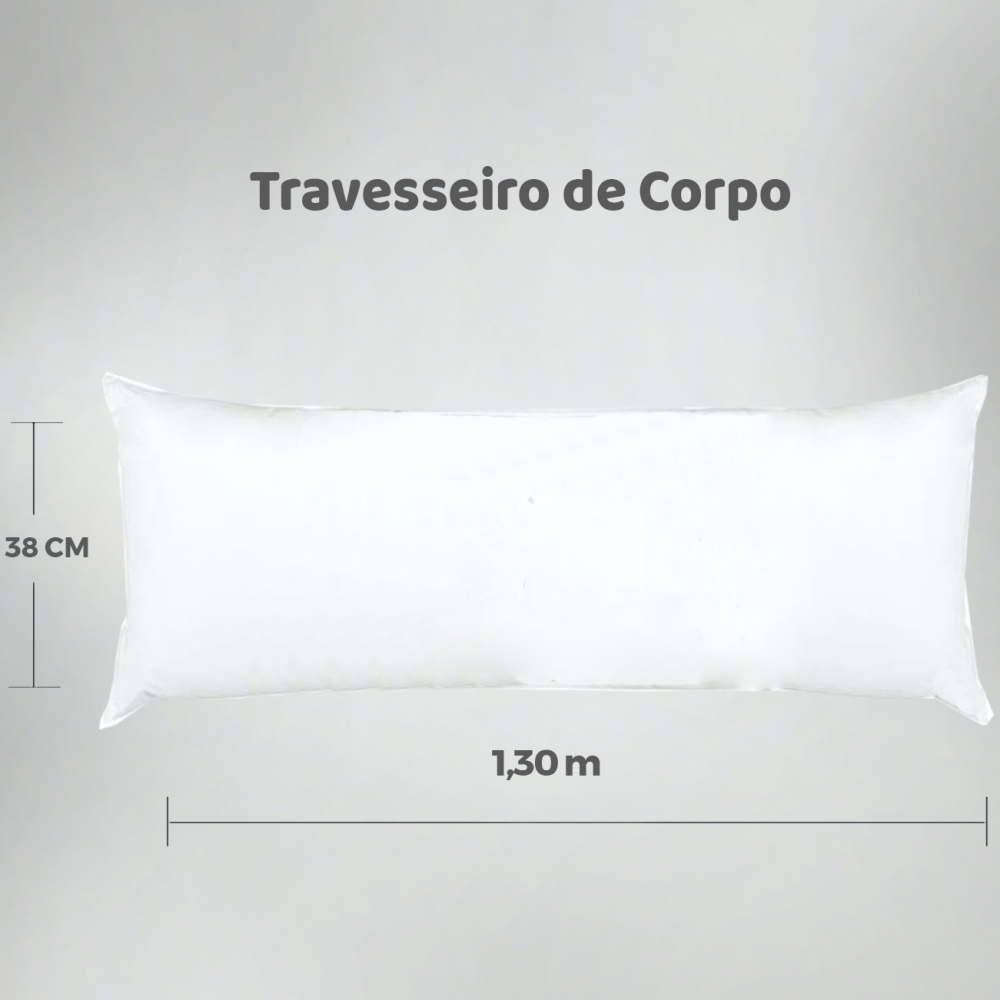 Travesseiro de Corpo Aconchego Estampado 1,30m x 38cm - Cada Segundo