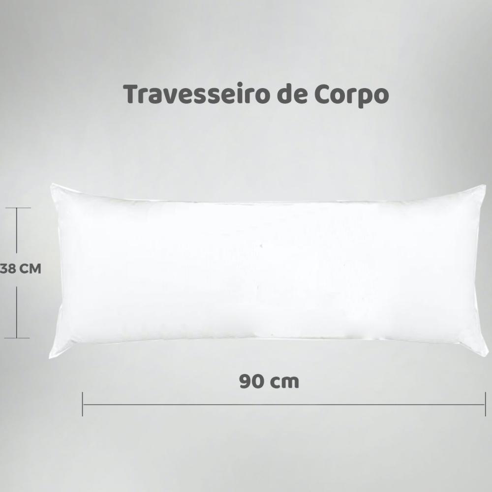 Travesseiro de Corpo Aconchego Estampado 90cm x 38cm - Love