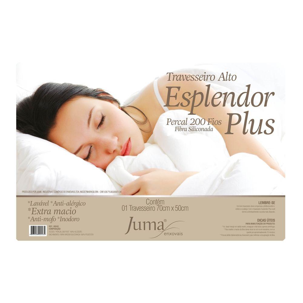 Travesseiro Alto Fibra Siliconada Esplendor Plus - 1 Peça