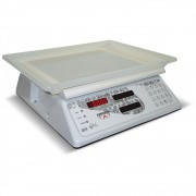 Balança Computadora Branca Ramuza Bivolt 3/6/15kg x 1/2/5g DCR B Led