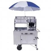 Carrinho 2 em 1 Hot-dog e lanche com Caixa Térmica R2 11407
