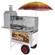 Carrinho 3 em 1 Armon Churrasco, Hot Dog e Lanche com Rodas Pneumáticas Chlcl 012