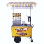 Carrinho de Churros Gourmet R2 4 Doceiras e Masseira Fuso Inox R0076