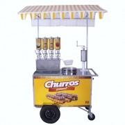 Carrinho de Churros Gourmet R2 4 Doceiras e Masseira Fuso R0077