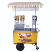 Carrinho de Churros Gourmet R2 4 Doceiras e Masseira R0078