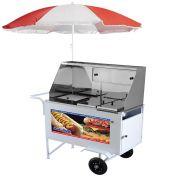 Carrinho de Hot Dog Armon Luxo com Rodas Maciças Xdlm 007