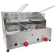 Fritadeira Profissional a Gás Cefaz 2 Cubas 5 Litros FPC-02