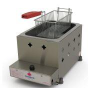 Fritadeira Profissional a Gás Progás Inox 1 Cuba 5 Litros PR-10G