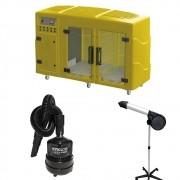 Kit Pet Shop Máquina de Secar Amarela + Secador 5000 e Soprador Maxx Black Kyklon