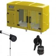 Kit Pet Shop Máquina de Secar Amarela + Secador Maestro e Soprador Maxx Black Kyklon