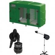 Kit Pet Shop Máquina de Secar Verde + Secador 5000 e Soprador Maxx Black Kyklon