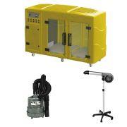 Maquina de Secar Amarela + Secador 5000 e Soprador Maxx Cinza Kyklon