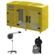 Maquina de Secar Amarela + Secador Maestro e Soprador Maxx Cinza Kyklon